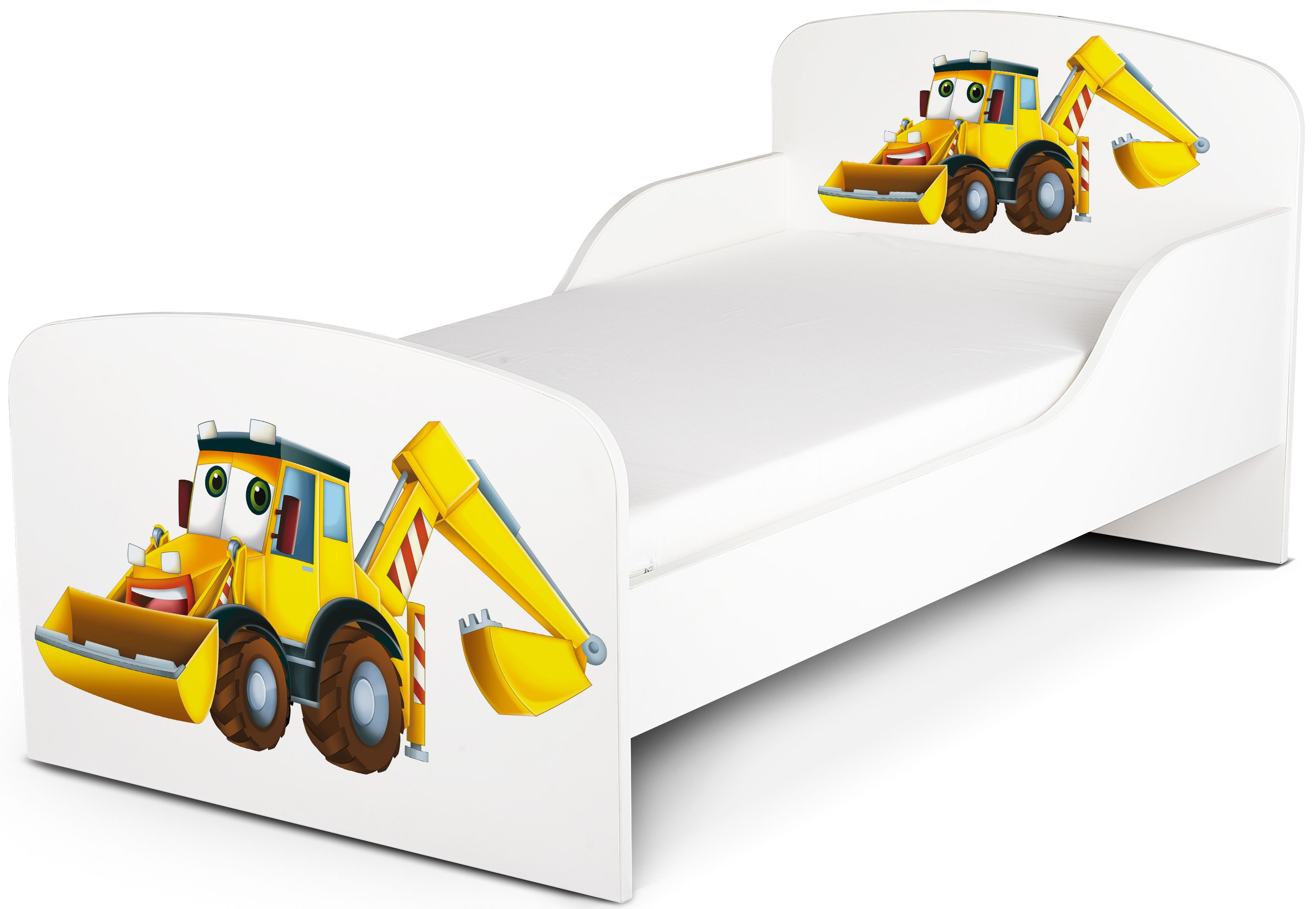 kinderbett 140x70 cm mit matratze thema herr bagger. Black Bedroom Furniture Sets. Home Design Ideas